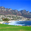 Gold and white sand from Green Camps Bay on the Atlantic Seaboard